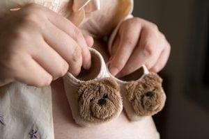 5 weken zwanger: babysokjes