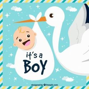 Geboortekaartje jongen: 10 weken zwanger