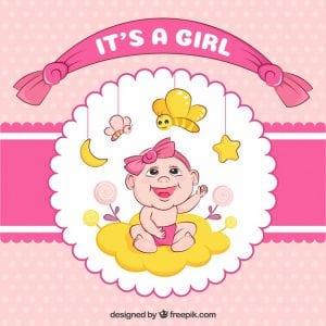 Geboortekaartje meisje: 10 weken zwanger